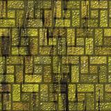 Mossy brick pavement poster