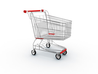 cart shopping, supermarket basket