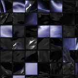 Glossy tile mosaic poster