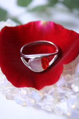 ring on a petal