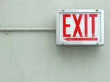 Red exit sign poster