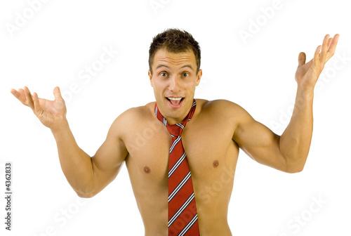 Фото голого мужчины в галстуке 25 фотография