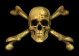Grunge Skull Crossbones poster
