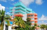 Art deco architecture in Miami Beach poster