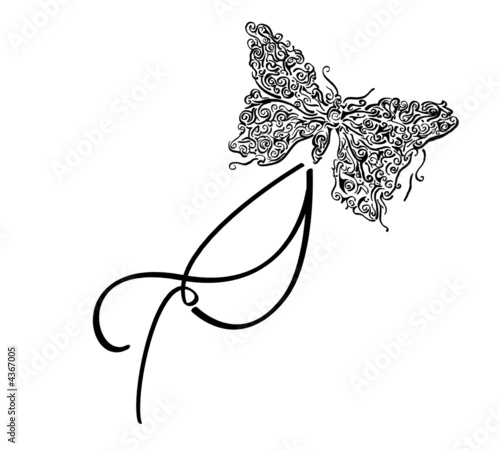 tribal designs wings. tribal designs wings. Butterfly - Tribal Design with