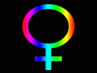 Female Rainbow Symbol