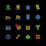 neon server icons poster