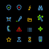 neon administration icons poster