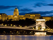 Szechenyi chain bridge and Buda castle
