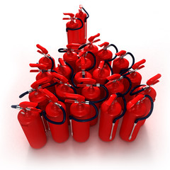 extincteur rouge groupe