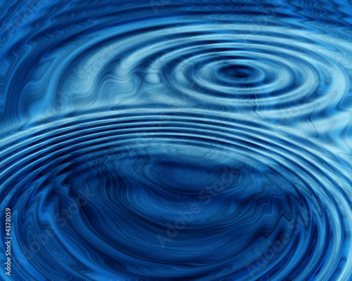 Canvas Fractal waves Abstract Graphic