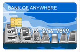 Credit card with computer servers poster