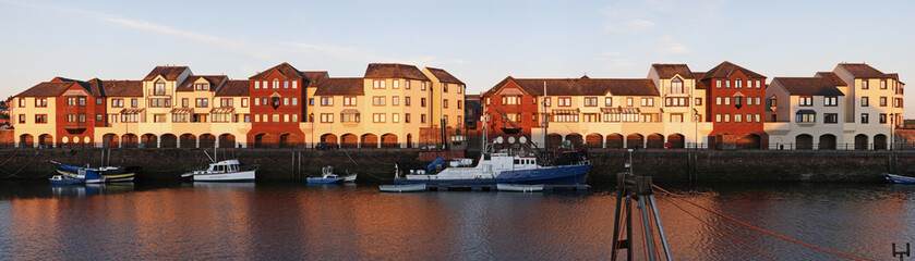 Dockside apartments panorama