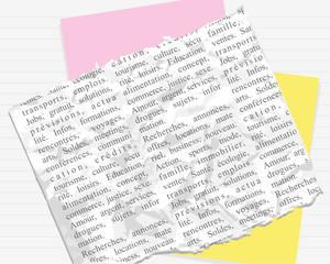 fond papiers texte français
