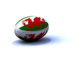 Ballon Rugby Pays De Galles poster