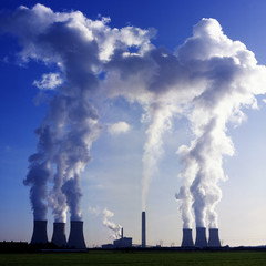 Coal fired power station at Didcot in Oxfordshire, England