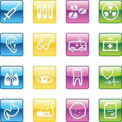 aqua medicine icons