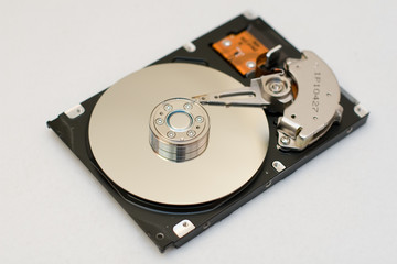 The computer hard disk drive.