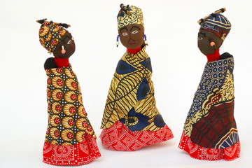 Three rag-dolls from Swaziland