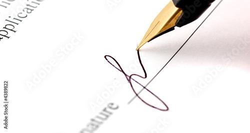 Leinwanddruck Bild signature
