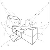 geometrical drawing poster