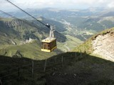 Fototapete Straßenbahn - Kabel - Hochgebirge