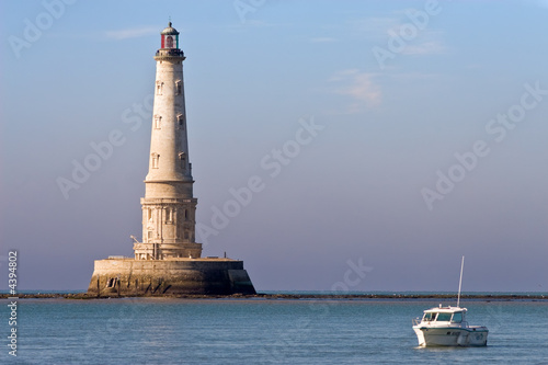 luxurious lighthouse and boat