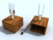 two laboratory tuning forks for experience on physicist