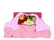 Storytelling under blanket