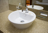 White sink in bathroom 1   poster