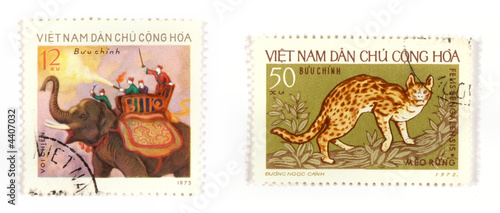 Exotic postage stamps