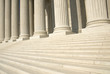 canvas print picture - US Supreme Court - Steps and Columns