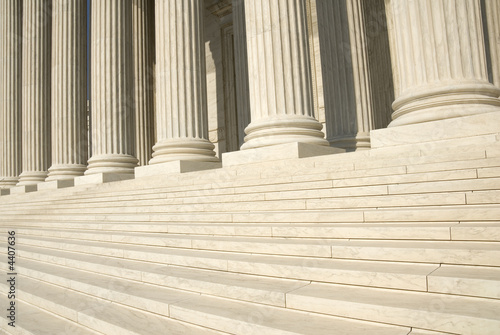 Leinwanddruck Bild US Supreme Court - Steps and Columns