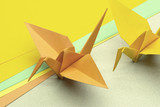 Tsuru origami represents luck, peace, happiness and longevity poster