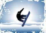 Snowboard trick poster