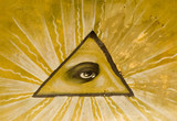 eye and triangle poster