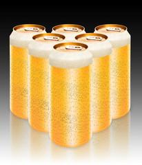 groupe de canettes de biere