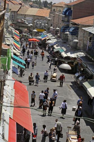 busy main souk, jerusalem, israel