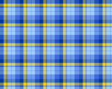 Blue and yellow plaid material poster