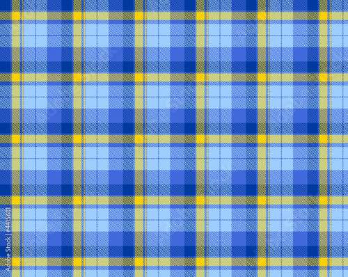 poster of Blue and yellow plaid material