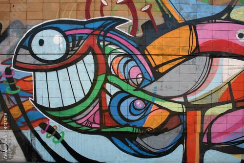 Fototapeten,fisch,graffiti,malen,wand
