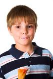 Boy with icecream poster