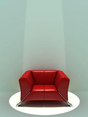 Illuminated red seat