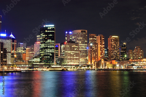 Poster Sydney - Hafen / Harbour at night