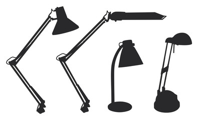 Table lamp shapes vector illustration rasterized