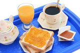 Breakfast tray (clipping path) poster