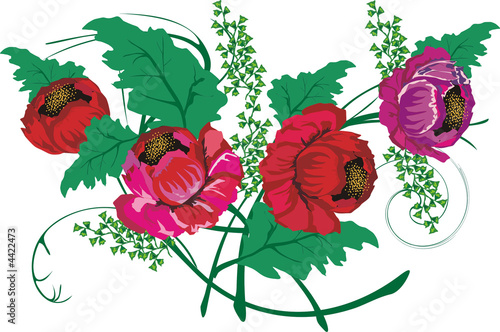 red poppy decoration