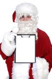 Santa Claus whit billboard poster