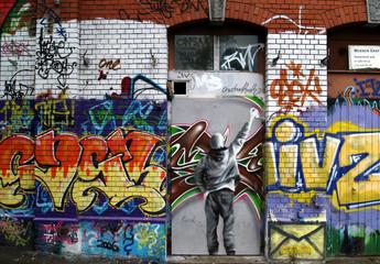 façade et graffiti