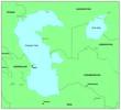Sea maps series: Caspian Sea, Aral sea
